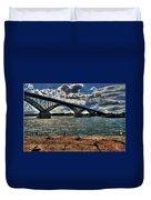 007 Peace Bridge Series II Beautiful Skies Duvet Cover