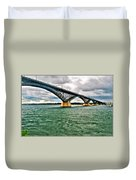 007 Stormy Skies Peace Bridge Series Duvet Cover