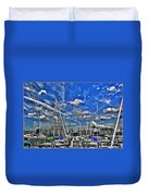 007sc On A Summers Day  Erie Basin Marina Summer Series Duvet Cover