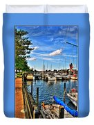 008 On A Summers Day  Erie Basin Marina Summer Series Duvet Cover