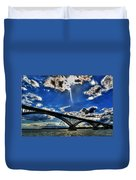 008 Peace Bridge Series II Beautiful Skies Duvet Cover