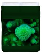 Green Coral Duvet Cover