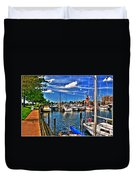 009 On A Summers Day  Erie Basin Marina Summer Series Duvet Cover