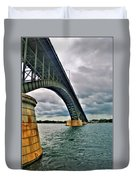009 Stormy Skies Peace Bridge Series Duvet Cover