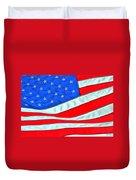 01 American Flag Duvet Cover
