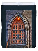 01 Church Doors Duvet Cover