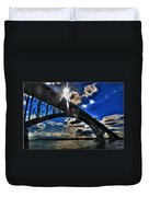 010  Peace Bridge Series II Beautiful Skies Duvet Cover
