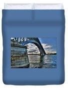 011  Peace Bridge Series II Beautiful Skies Duvet Cover