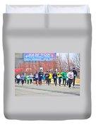 017 Shamrock Run Series Duvet Cover