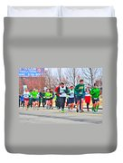 021 Shamrock Run Series Duvet Cover