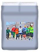 022 Shamrock Run Series Duvet Cover