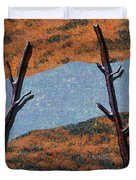 0361 Abstract Landscape Duvet Cover
