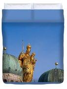 Towers Of Frauenkirche Duvet Cover