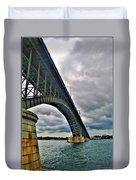 009 Stormy Skies Peace Bridge Series Duvet Cover