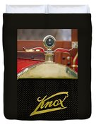 1909 Knox Open Touring Hood Ornament Duvet Cover