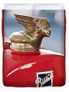 1928 Buick Custom Speedster Hood Ornament Duvet Cover