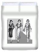 1930s Dresses Duvet Cover