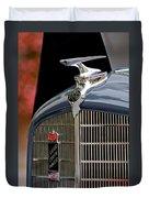1935 Reo Speedwagon Pickup Hood Ornament Duvet Cover