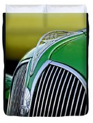 1937 Plymouth Hood Ornament Duvet Cover