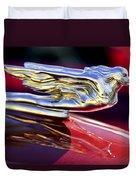 1941 Cadillac Hood Ornament Duvet Cover