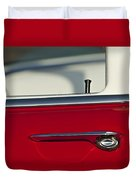 1955 Chevrolet 210 Door Handle Duvet Cover
