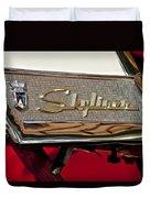 1957 Ford Skyliner Retractable Hardtop Emblem Duvet Cover