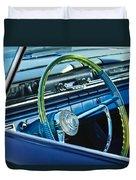 1961 Pontiac Catalina Steering Wheel Duvet Cover