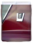 1964 Studebaker Avanti Emblem Duvet Cover