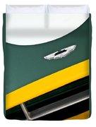 1993 Aston Martin Dbr2 Recreation Hood Emblem Duvet Cover by Jill Reger