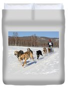 2010 Limited North American Sled Dog Race Duvet Cover