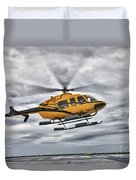 A Bell 407 Utility Helicopter Prepares Duvet Cover