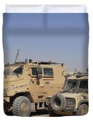 A British Armed Forces Snatch Land Duvet Cover
