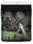 A British Army Sniper Team Dressed Duvet Cover