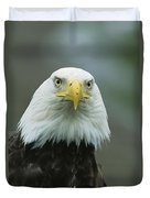 A Close View Of An American Bald Eagle Duvet Cover