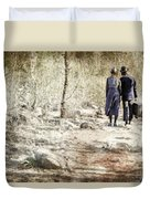 A Couple In The Woods Duvet Cover by Joana Kruse