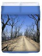 A Dirt Road Runs Along A Mountain Top Duvet Cover
