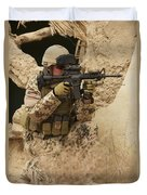 A German Army Soldier Armed With A M4 Duvet Cover