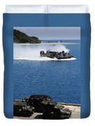 A Landing Craft Air Cushion Approaches Duvet Cover
