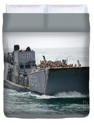 A Landing Craft Utility Transits Duvet Cover