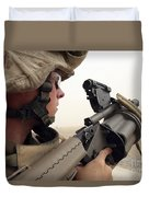 A Marine Aims In With A M-32 Multiple Duvet Cover
