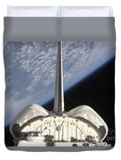 A Partial View Of Space Shuttle Duvet Cover