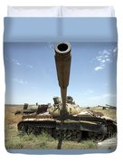 A Russian T-55 Main Battle Tank Duvet Cover