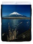 A Scenic View Of Mount Fuji Taken Duvet Cover
