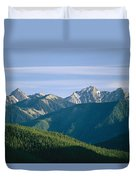 A Scenic View Of The Rocky Mountains Duvet Cover