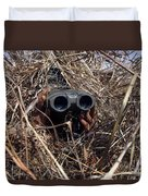 A Scout Observer Practices Observation Duvet Cover by Stocktrek Images