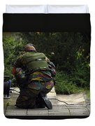 A Soldier Of The Belgian Army Duvet Cover