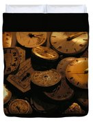 A Still Life Of Old Watch Faces Duvet Cover