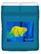 A Thermogram Of A Long Haired Cat Duvet Cover