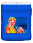 A Thermogram Of A Musician Playing Duvet Cover