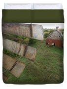 A Turn-of-the-century Peg Barn As Seen Duvet Cover